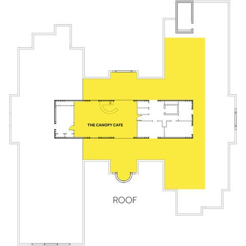 Bourne View Canopy Café and Roof Terrace Floor Plan