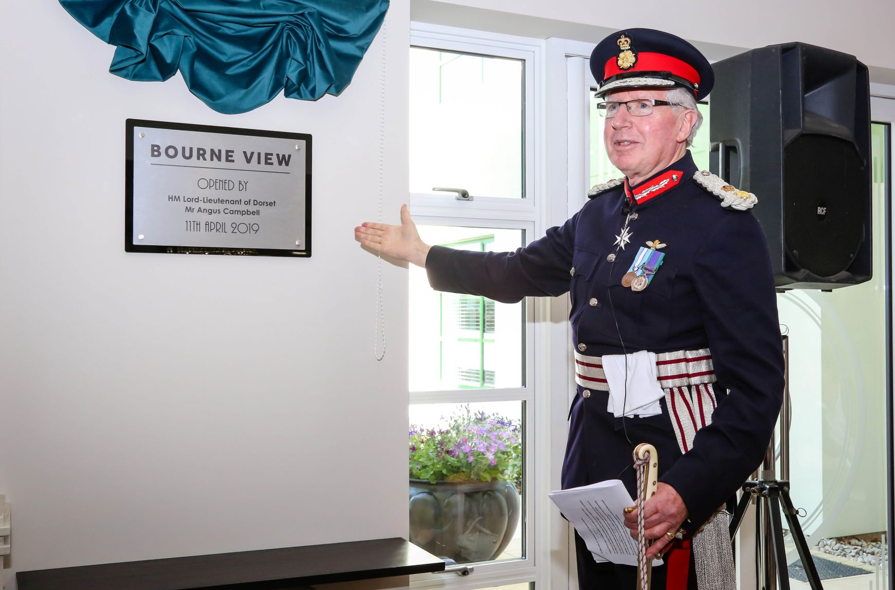 HM Lord-Lieutenant of Dorset, Angus Campbell opens Bourne View