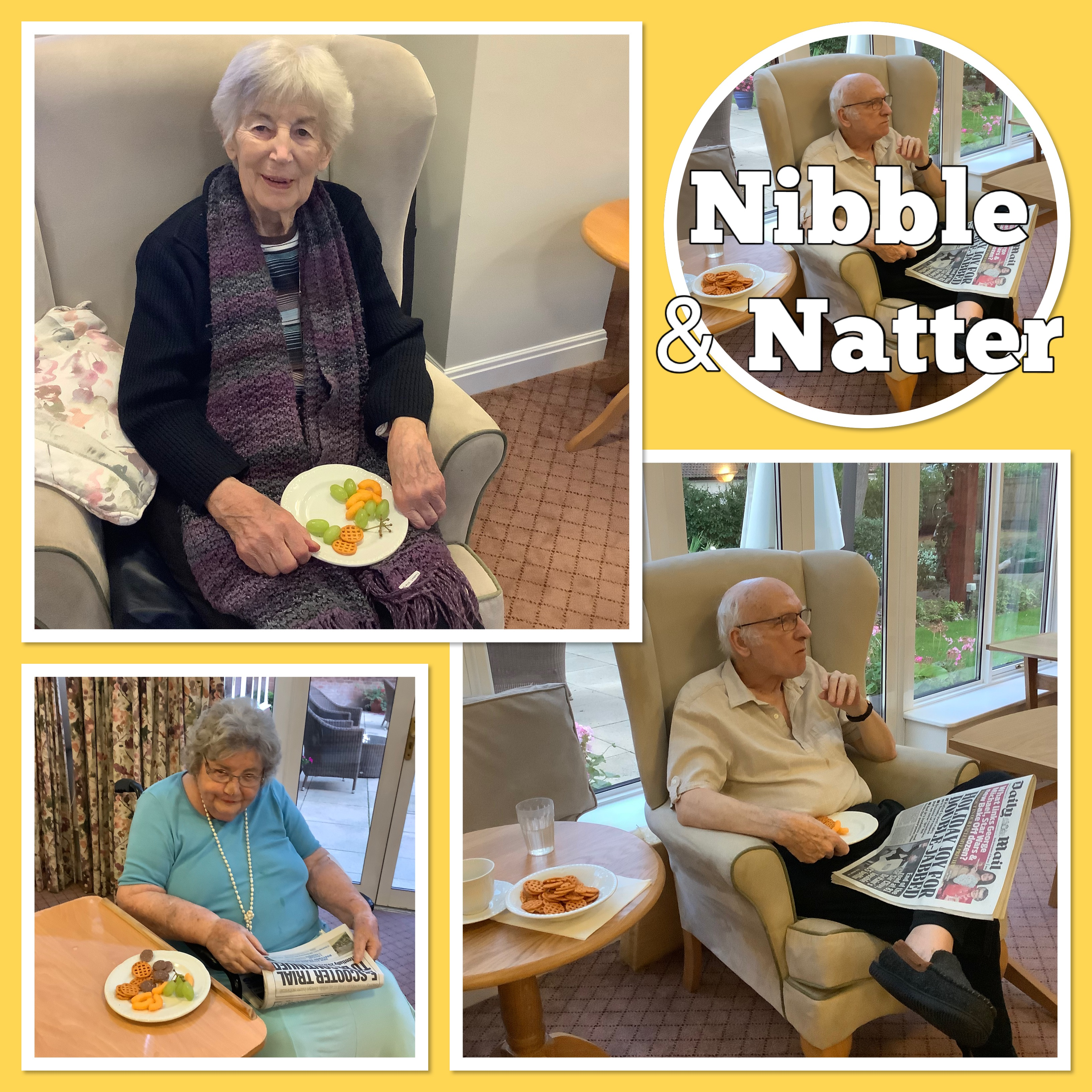 Nibble and Natter collage