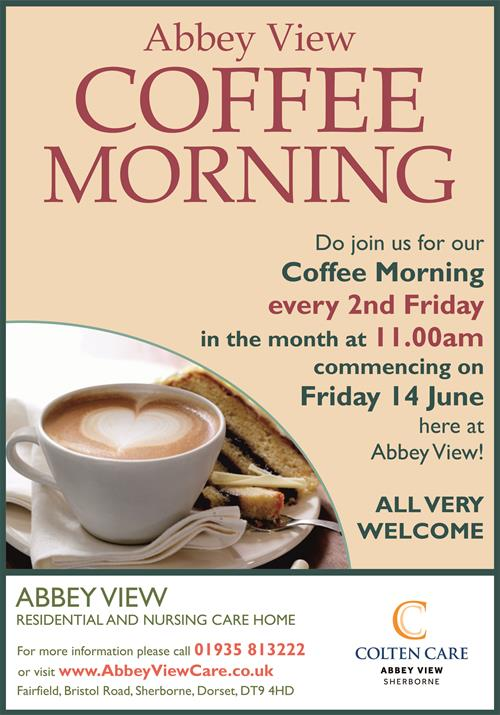 Abbey View - Coffee Morning Poster - 16 Apr 2019