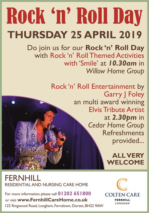 Date for the Diary! Rock 'n' Roll Day at Fernhill
