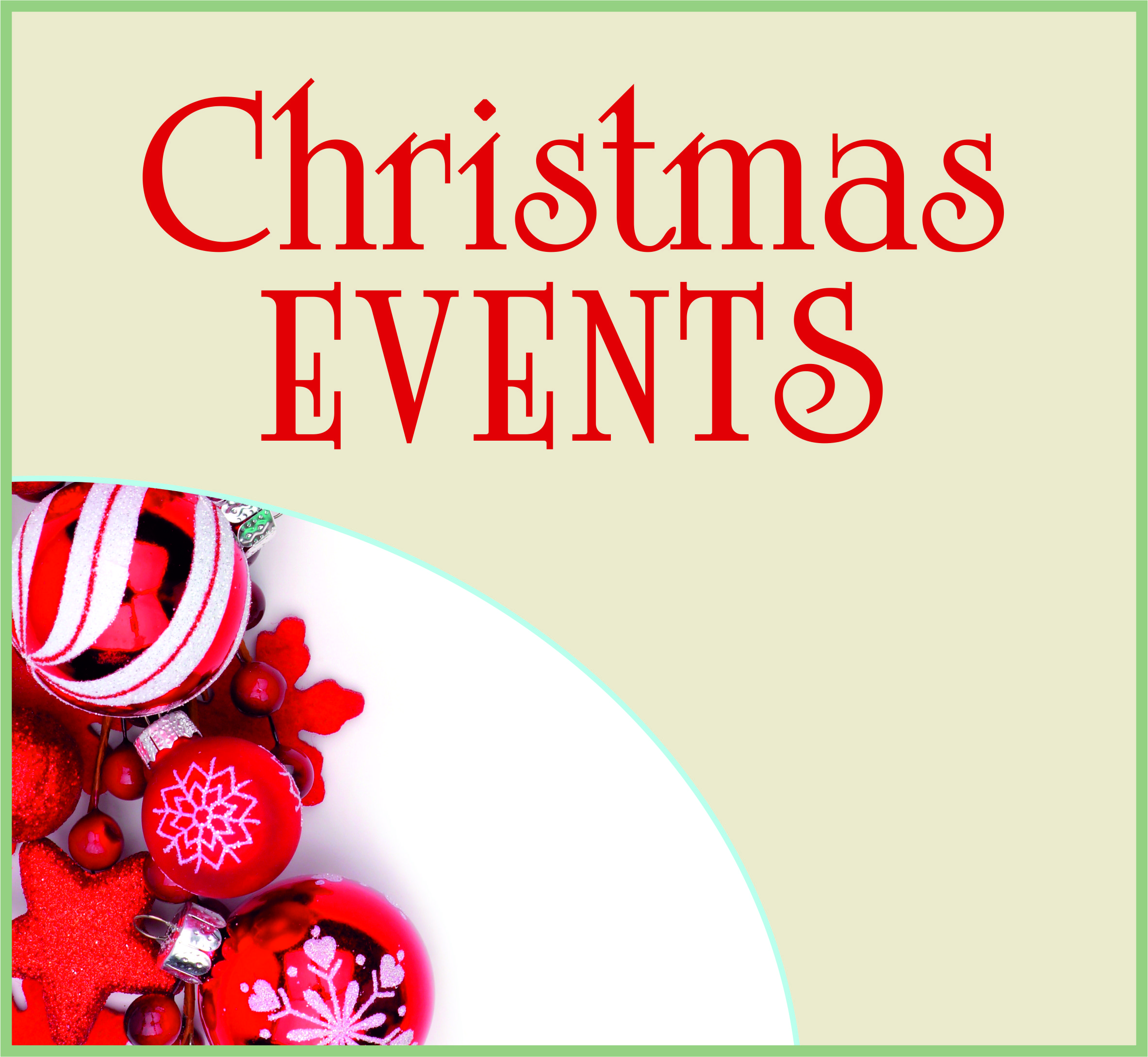 Events Template xmas events NS