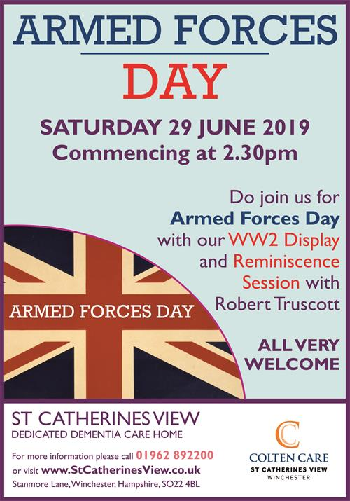 St Catherines View - Armed Forces Day Poster 29 June - 20 May 2019