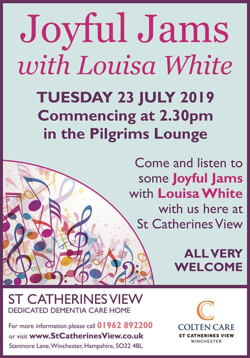 St Catherines View - Joyful Jams Poster 23 July - 24 June 2019