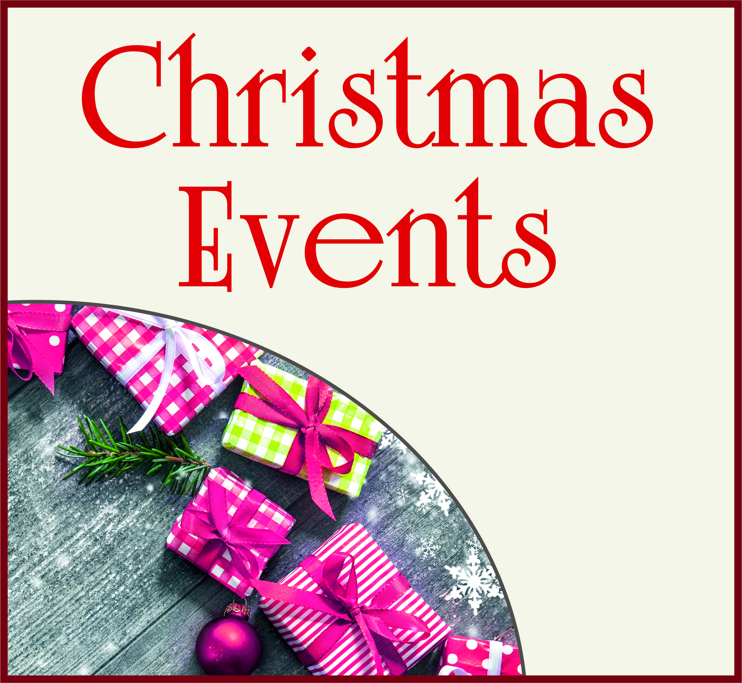 Events Template xmas events WG