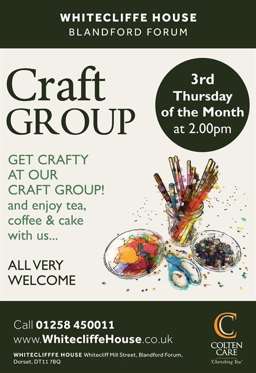 Whitecliffe House - Craft Group Poster - 14 Jan 2020