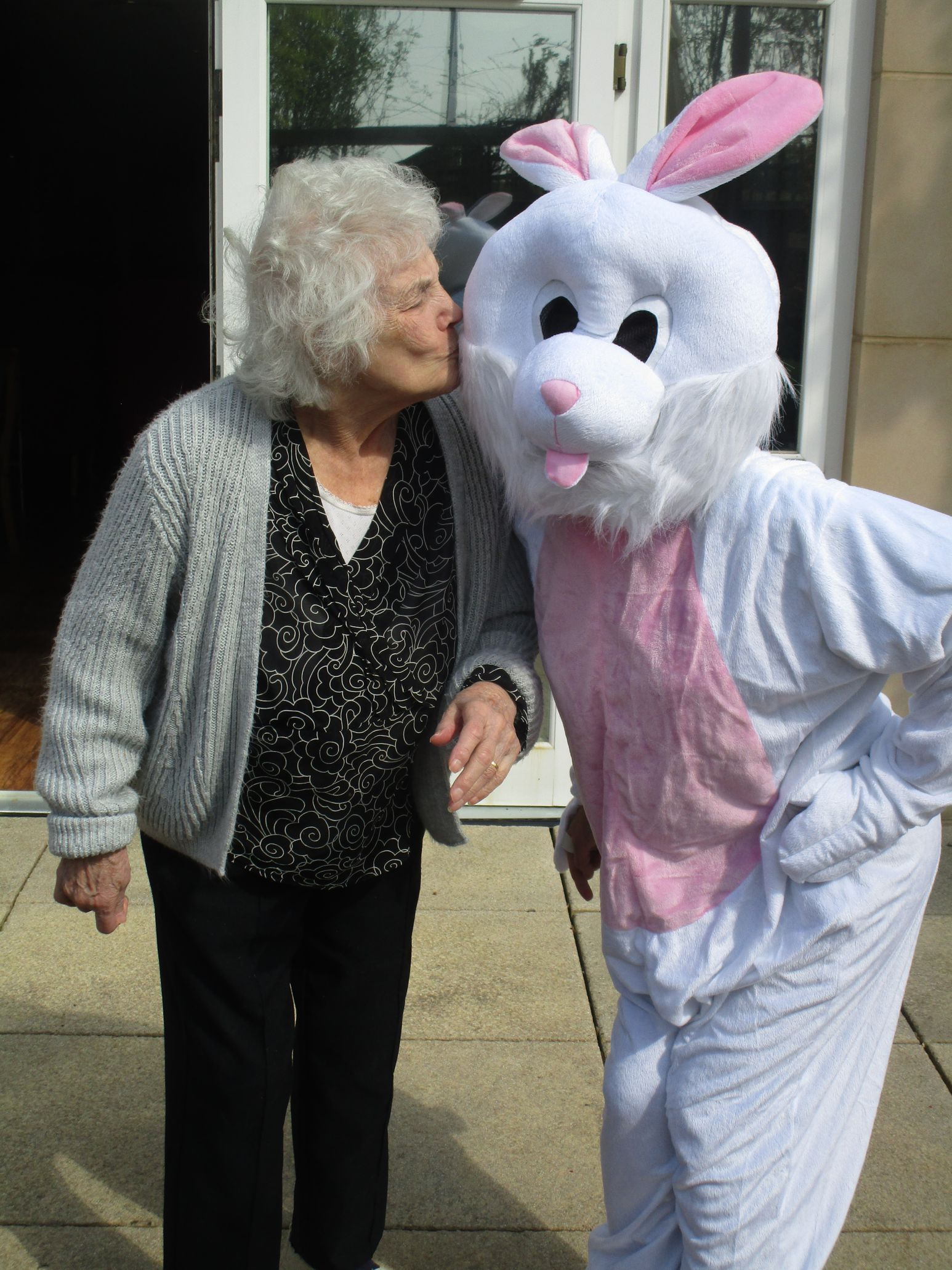 Betty and easter bunny FH