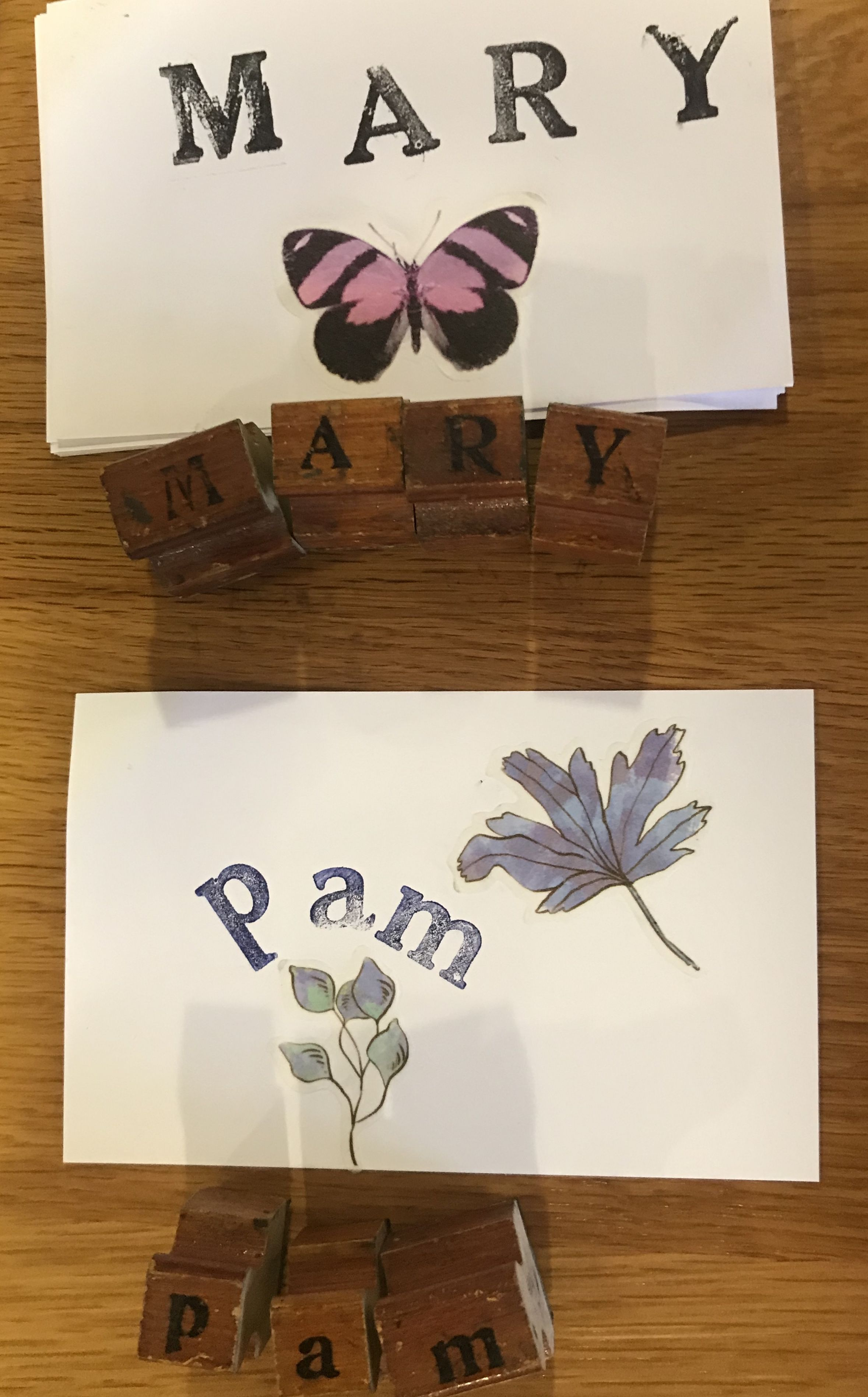 Mary  Pam cards NS