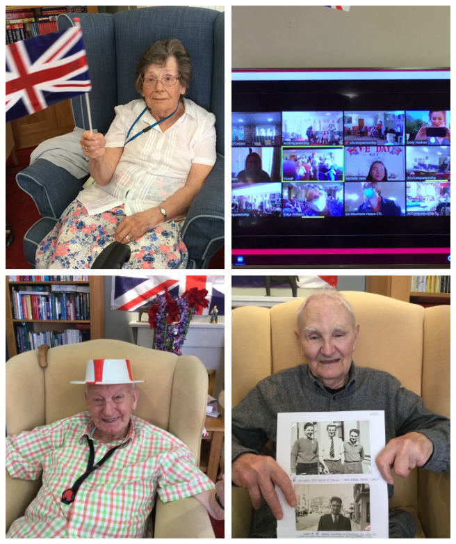 VE Day collage