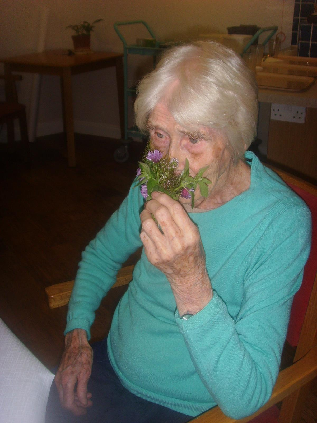 Joan with herbs 2