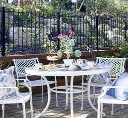 Enjoy afternoon tea in our gardens